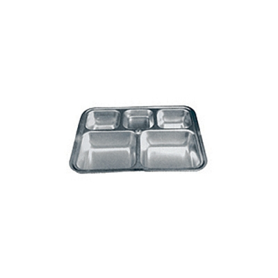 Stainless steel fast food dish